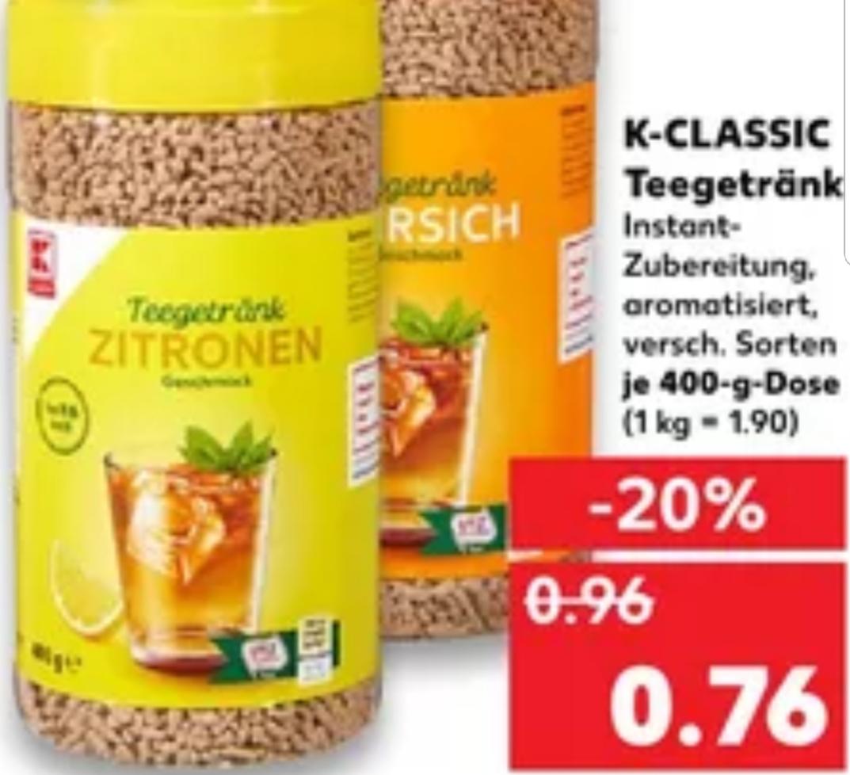 """Teegetränk"": Krümel/Streusel/Körnertee je 400g Dose für nur 0,76€ (Kaufland)"