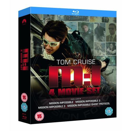 Mission Impossible: Quadrilogy (1-4 Box Set) [UK Blu-ray] für 22,49 € @Play.com