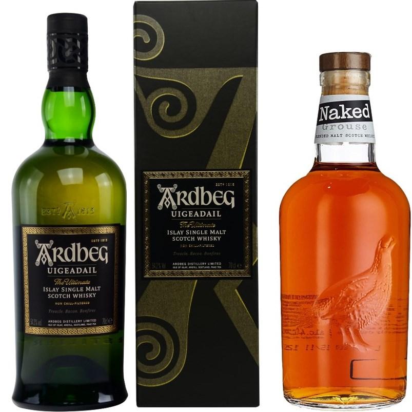 Whisky-Übersicht #49: z.B. Ardbeg Uigeadail Islay Single Malt 54,2% für 46,40€, Naked Grouse Blended Scotch Whisky für 22,45€ inkl. Versand