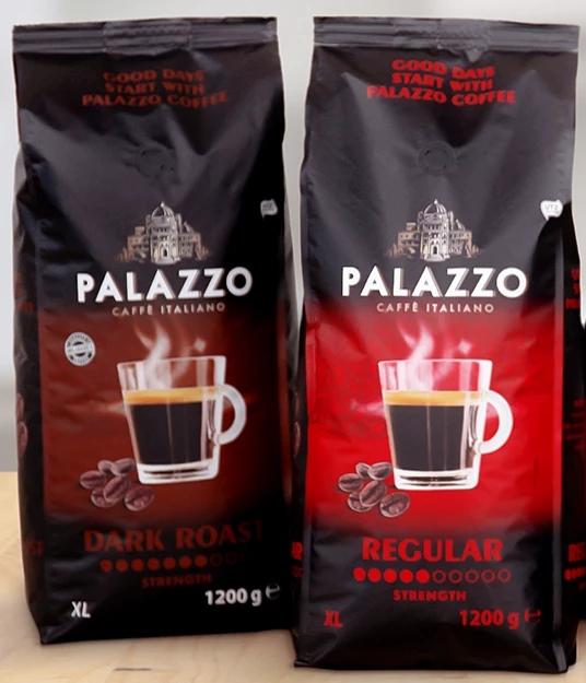 [Action] 1200g Palazzo Kaffeebohnen (4,13€/kg) Dark Roast & Regular