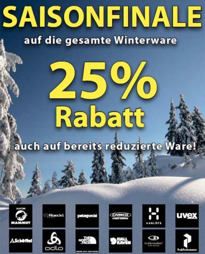 [Lokal Aachen] 25 % auf die gesamte Winterware bei Sport Gruber