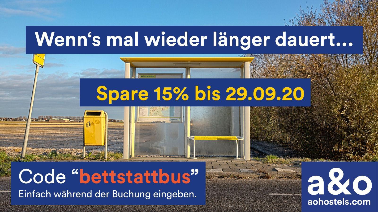 15% Gutschein von A&O Hostels