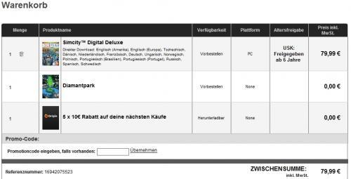 SimCity Digital Deluxe incl. 50 € Gutschein von Orgin