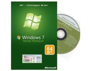[MeinPaket] Windows 7 Home Premium 64-Bit inkl. SP1 nur 31,41€