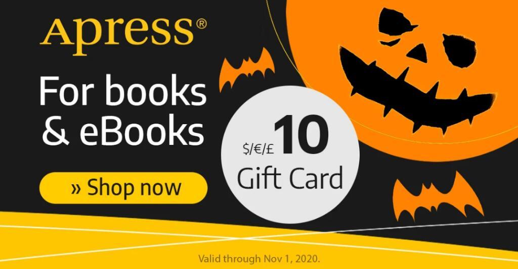 [Apress] 10€ Rabatt auf alle Bücher und eBooks ab 20€ Bestellwert