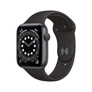 Apple Watch Series 6 (GPS, 44 mm) Aluminiumgehäuse Space Grau, Sportarmband Schwarz - Prime