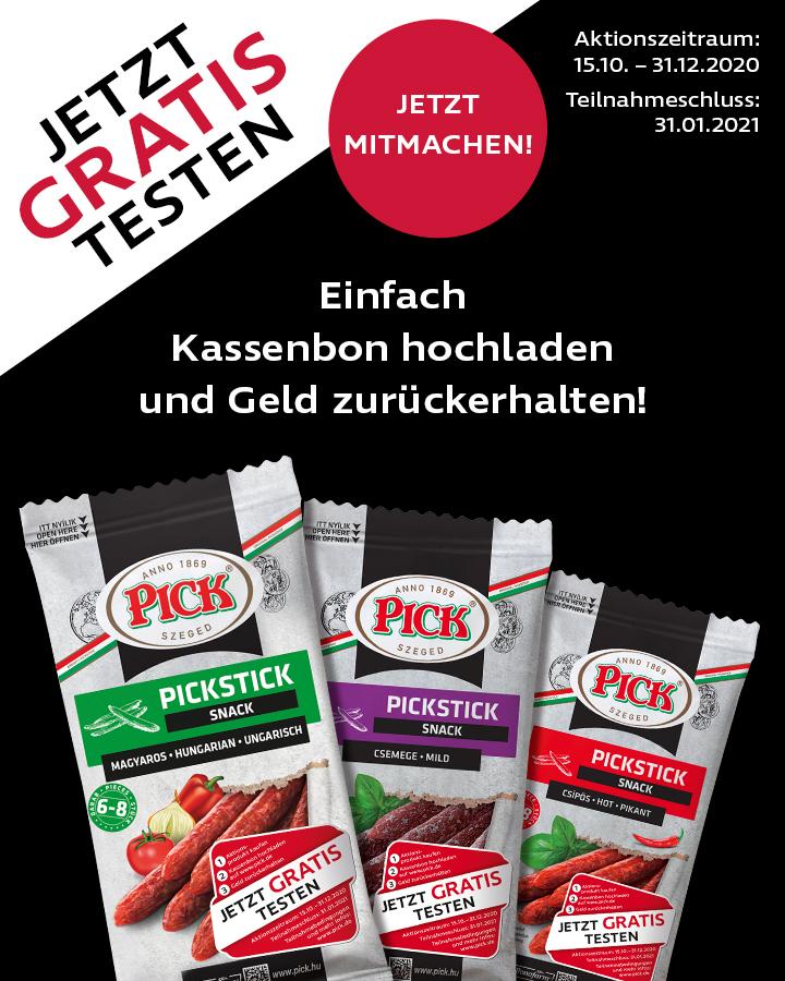 (GzG) Pick ungarische Salami gratis testen / verschiedene Sorten und Abpackungen