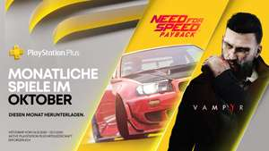 (PS Plus Oktober) Need for Speed: Payback und Vampyr (PS4)