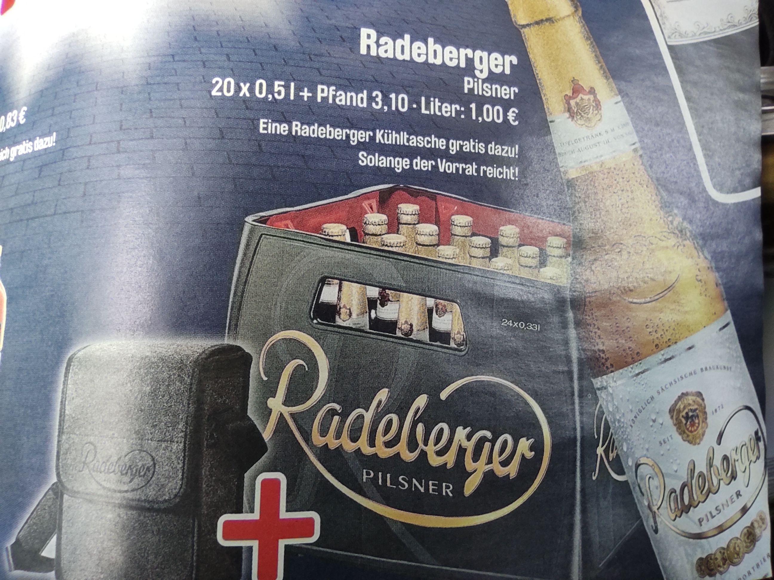 Getränke Hoffmann - Radeberger Pils 20*0,5l + Kühltasche