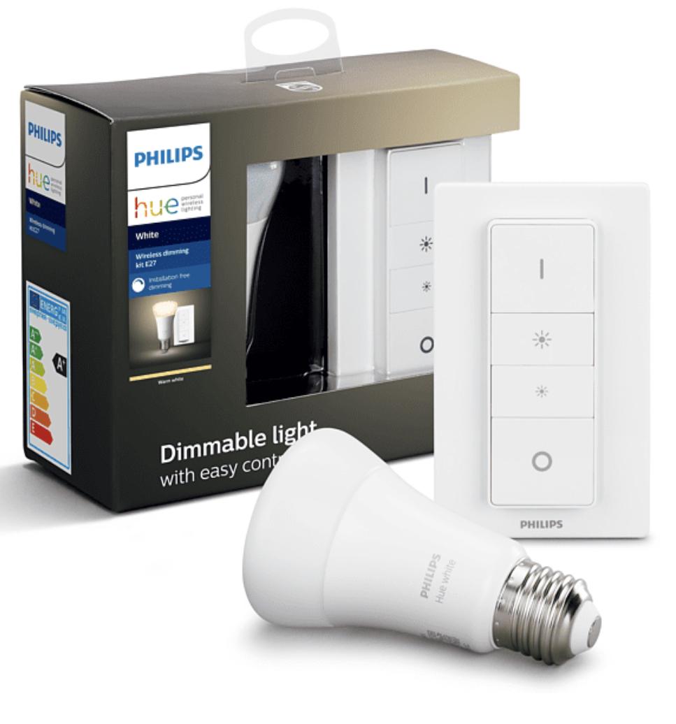 [Abholung MediaMarkt] PHILIPS Hue White E27 Wireless Dimming Bluetooth Starter Kit inkl. Dimmschalter für 16,93€