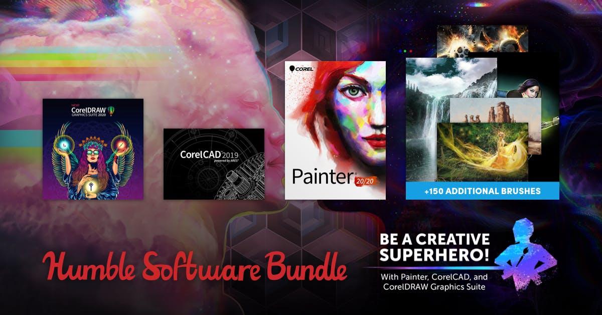 The Humble Software Bundle - u.a. mit CorelCAD / Corel Painter® 2020 / CorelDRAW Graphics Suite 2020