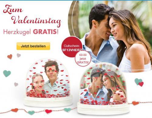 Schneekugel mit Herzen bei SnapFish Valentinstag EUR 0,00 + 4,95 Versand