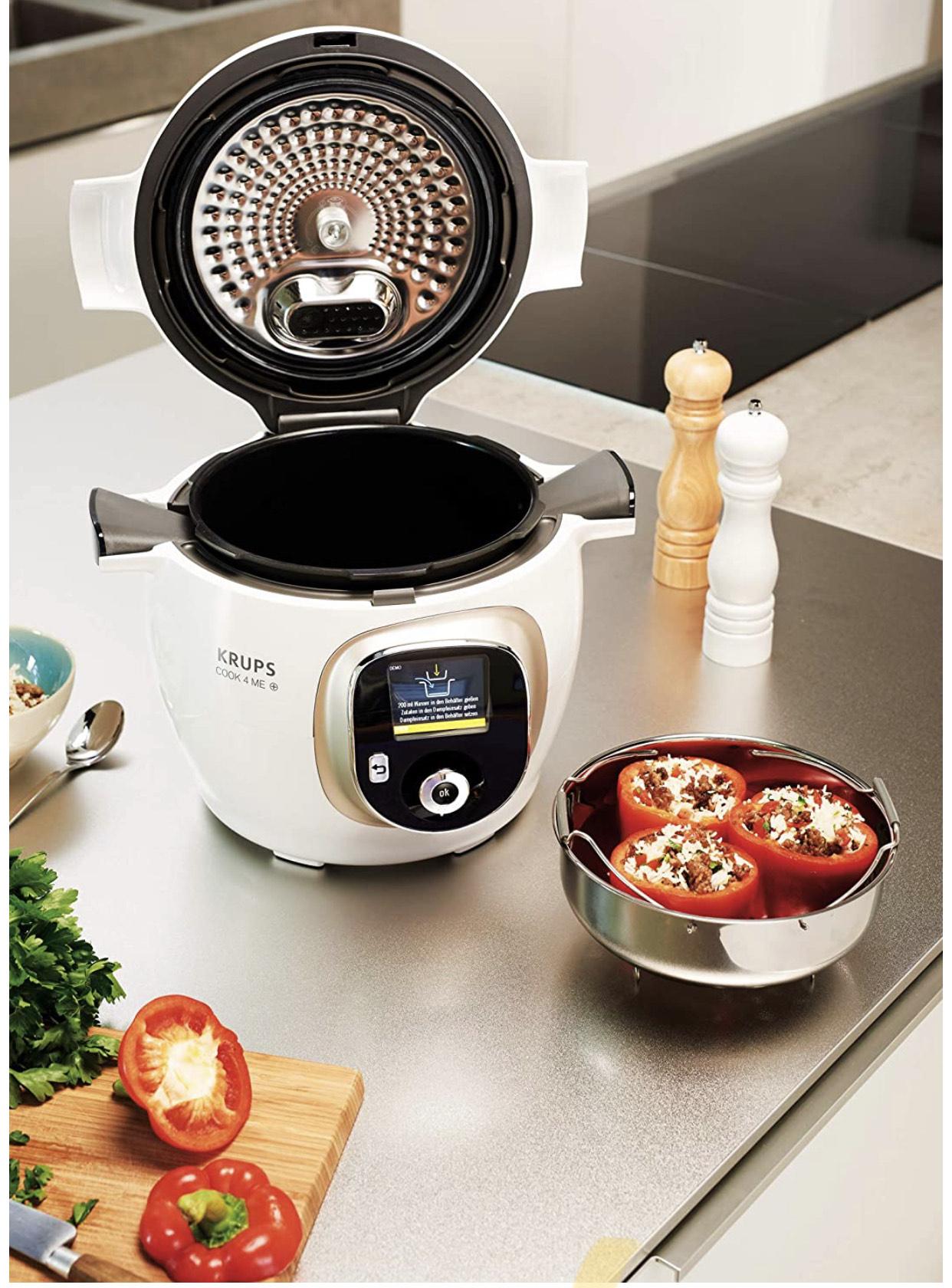 Krups CZ7101 Cook4Me+ Multikocher (1600 Watt, Schnellkochtopf, Rezeptbuch, Garen unter Druck, 6 Liter Fassungsvermögen)