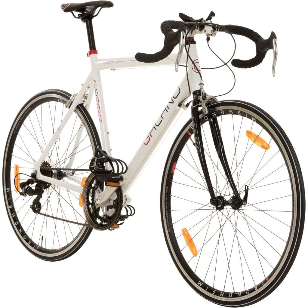[Real & Amazon] Galano Giro D'Italia 700c Rennrad 28 Zoll Fahrrad 14 Gänge, Farbe:weiß, Rahmengröße:56 cm