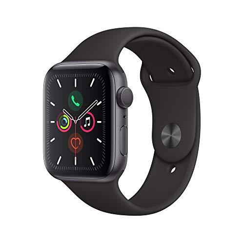 [Amazon] Apple Watch Series 5 (GPS) 355,80€ und (GPS + Cellular, 44 mm) 447,43€ Aluminiumgehäuse Space Grau - Sportarmband Schwarz