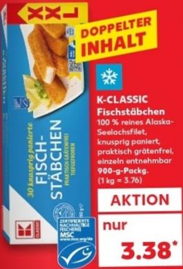Fischbrötchen = Liebe <3: Fischstäbchen 30Stk = 900g für nur 3,38€ (Kaufland)