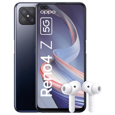 Oppo Reno 4 Z 5G + Enco W51 Kopfhörer im Blau Allnet XL 7GB LTE für 5,86€ einmalig und 17,99€ monatlich