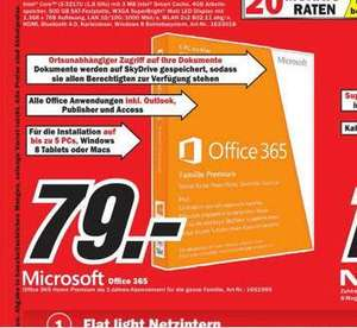 [LOKAL FFM@MM-NWZ] Office 365 Home Premium (Office 2013) für 5 PCs/Macs -> 79€