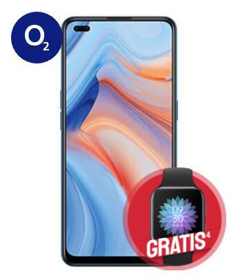 Oppo Reno4 5G mit Oppo Watch im O2 Blue All-In M (18GB LTE, Allnet/SMS, VoLTE und VoWiFi) mtl. 24,99€ | 12GB LTE 588,75€