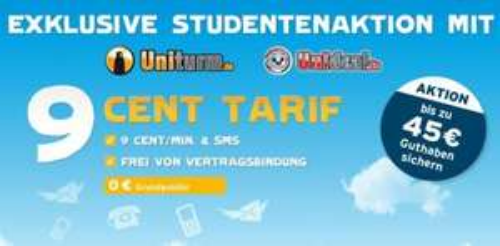 Exklusive Studentenaktion bei blau.de