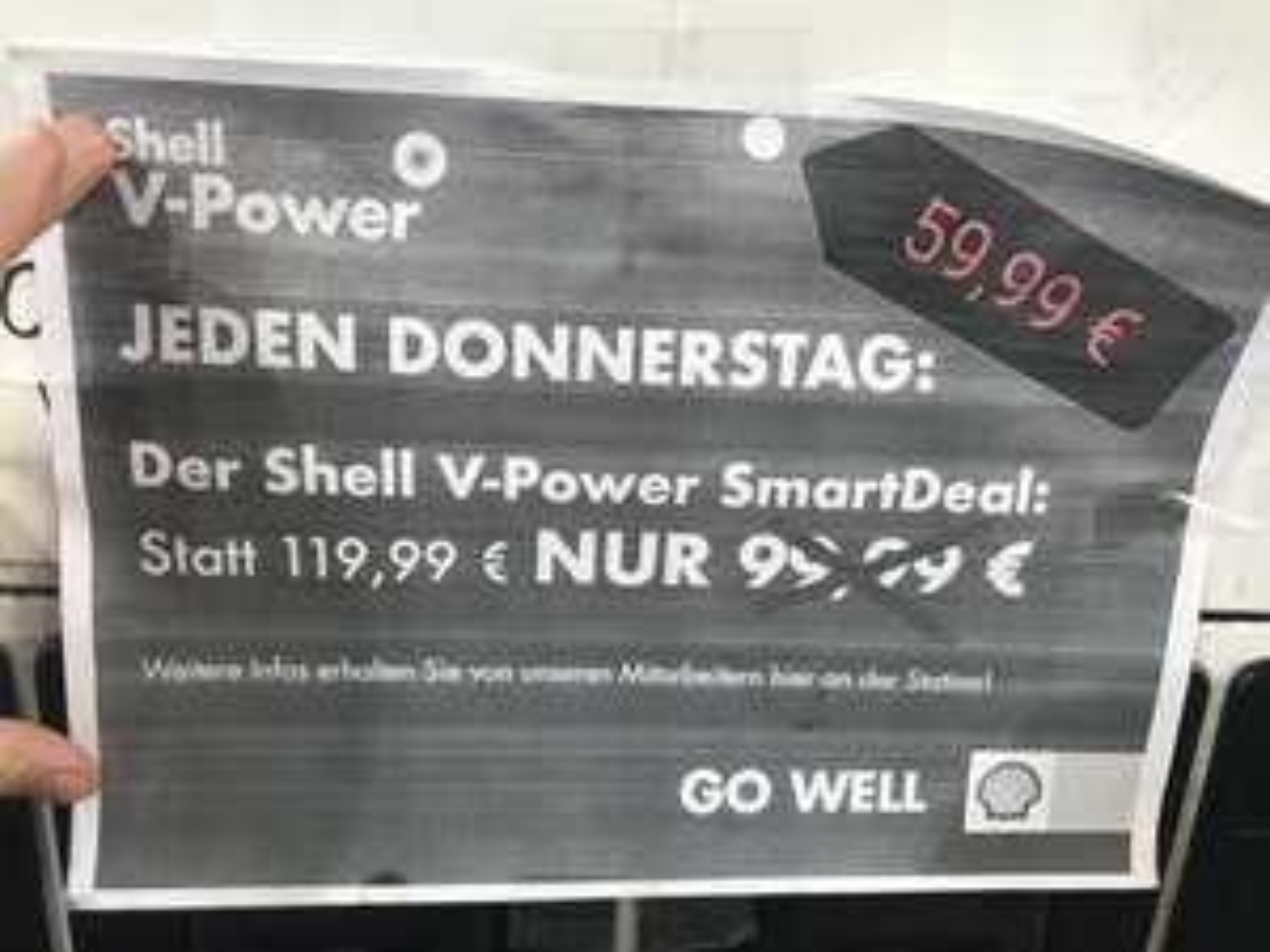 Lokal Hilden: 1 Jahr Shell SmartDeal V-Power 59,99 Euro
