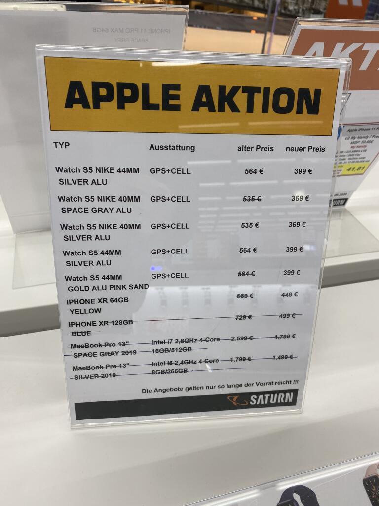 Lokal - iPhone XR 64GB Yellow (Berlin Potsdamer Platz Saturn)