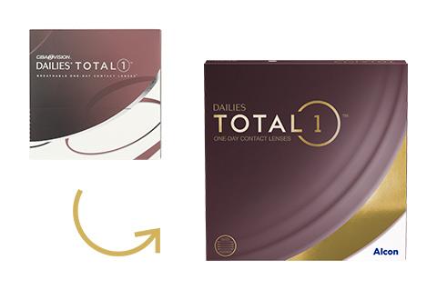 Dailies Total 1 Tageslinsen - Alle Größen verfügbar - Versandkostenfrei