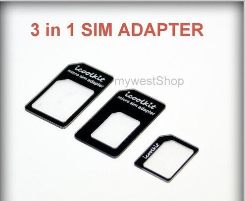 Nano Sim Karten Adapter 3 in 1