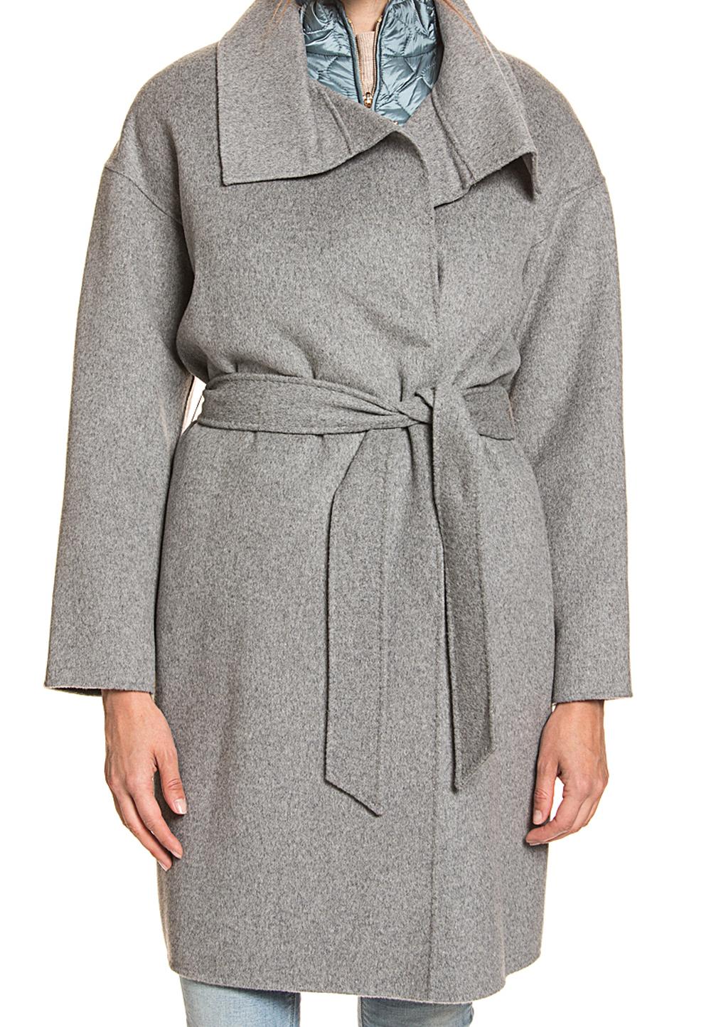 Geox Winterjacken für Damen für 69,99€ bzw. 79,99€, z.B. grauer Mantel aus Wollmix inkl. Steppweste