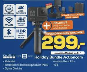 Lokal Euronics Memmingen: GoPro HERO8 Black Holiday Bundle für 299€ / Nintendo Switch Konsole + Pokemon Evoli für 299€