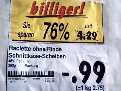 Le Rustique Raclette Käse   Kaufland Berlin-Neukölln (Britz)
