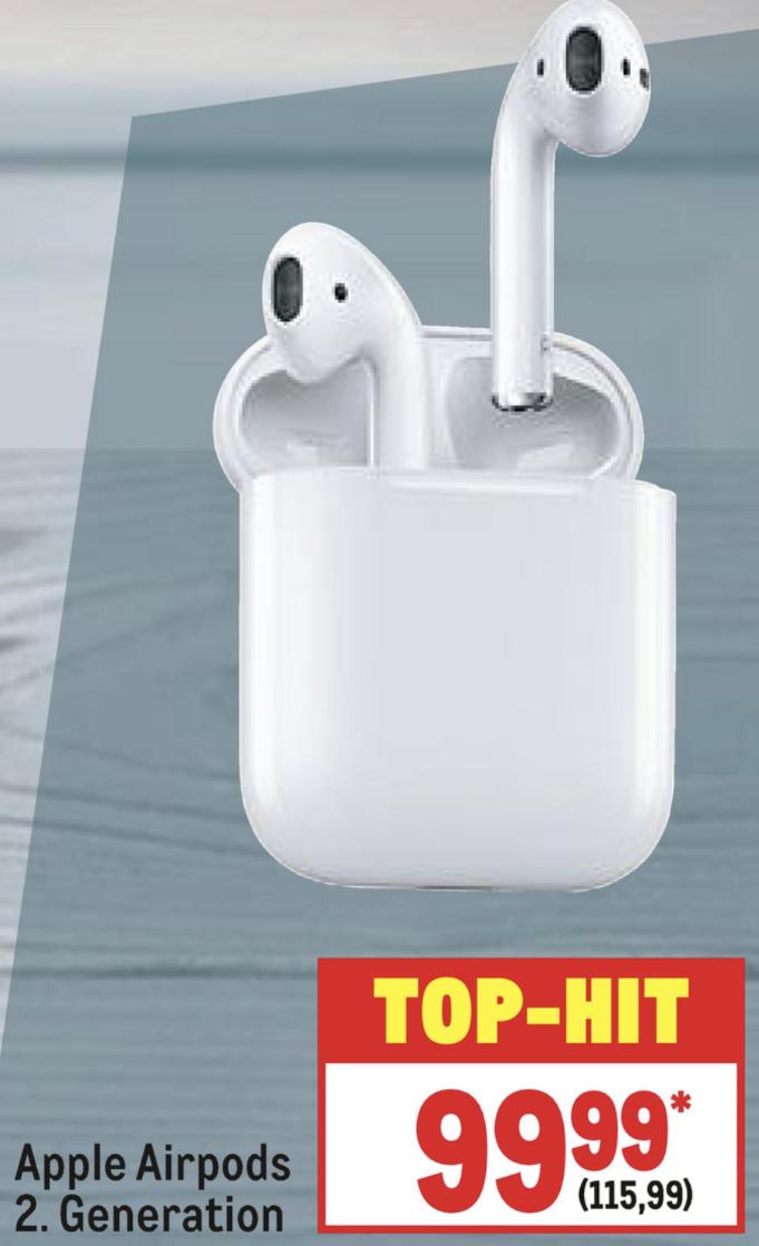 Metro Filialen: Apple Airpods 2 für 115,99€ / Apple HomePod für 255,19€ (mit Newsletter Gutschein für 105,99€ bzw. 245,19€ möglich)