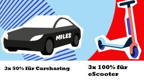 [Berlin] 3x 15min kostenlos VOI eScooter und 3x 50% Rabatt für Miles Carsharing - gut & günstig ankommen trotz Streik oder einfach so