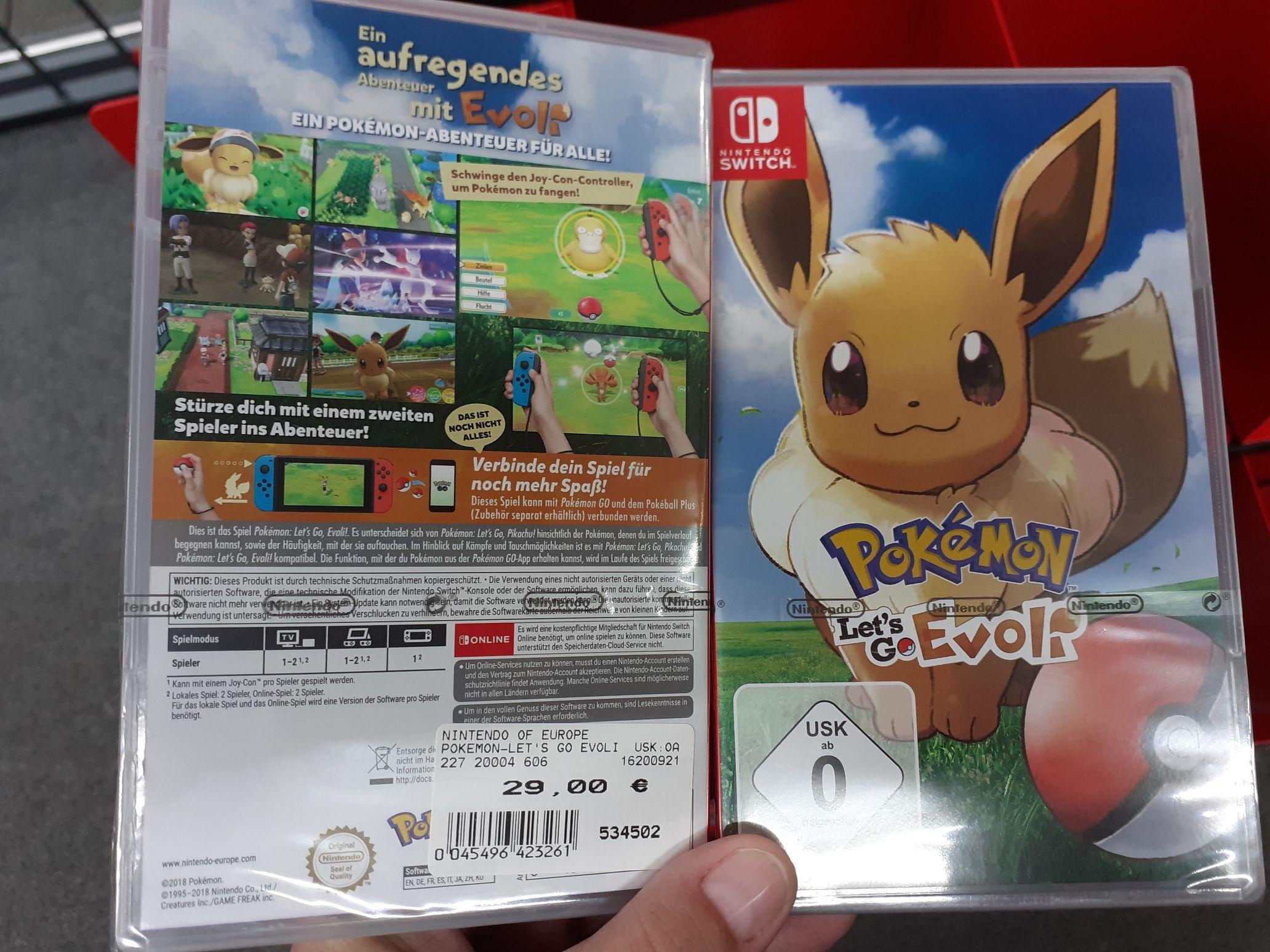 [Lokal Petersberg] expert klein: Pokemon: Let's go Evoli für Nintendo Switch
