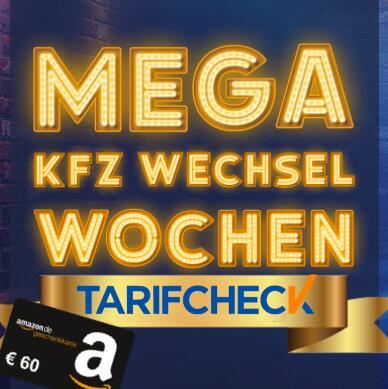 60€ Amazon Gutschein für KFZ-Versicherungsabschluss / -Wechsel über Tarifcheck (CHECK24 Vergleichsrechner)