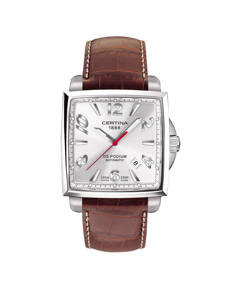 Certina DS Podium Square Automatic Uhr - ETA2824, Saphirglas, 100m WR