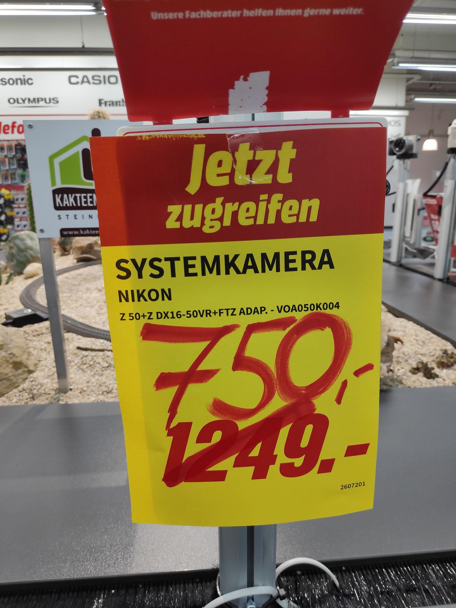 LOKAL{Landau} Nikon Z50+16-50VR+FTZ-Adapter bei MediaMarkt LD