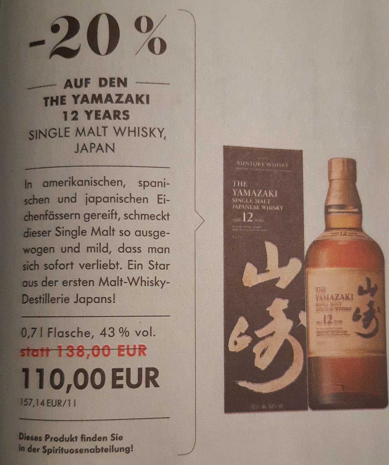 [lokal München & online] Dallmayr: Yamazaki 12 Years Single Malt Whisky
