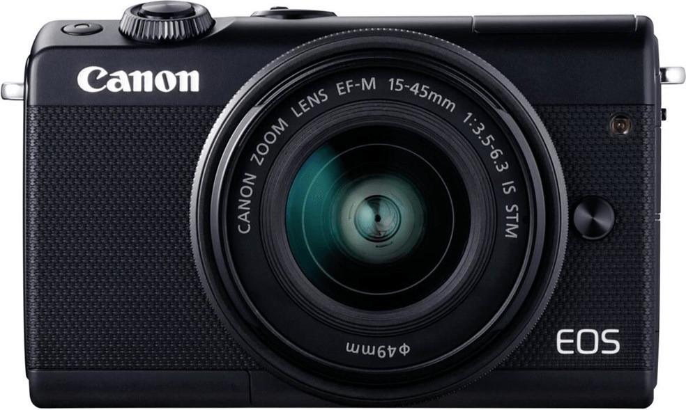 [El Corte Ingles] Systemkamera Digitalkamera Canon EOS M100 Kit mit Objektiv EF-M 15-45 mm schwarz inkl. Tasche und 16GB-SD [+15% Guthaben]