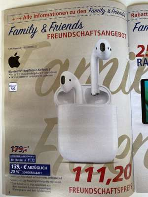 [real Family & Friends + Steuervorteil 30.10.-02.11.] Apple Airpods 2