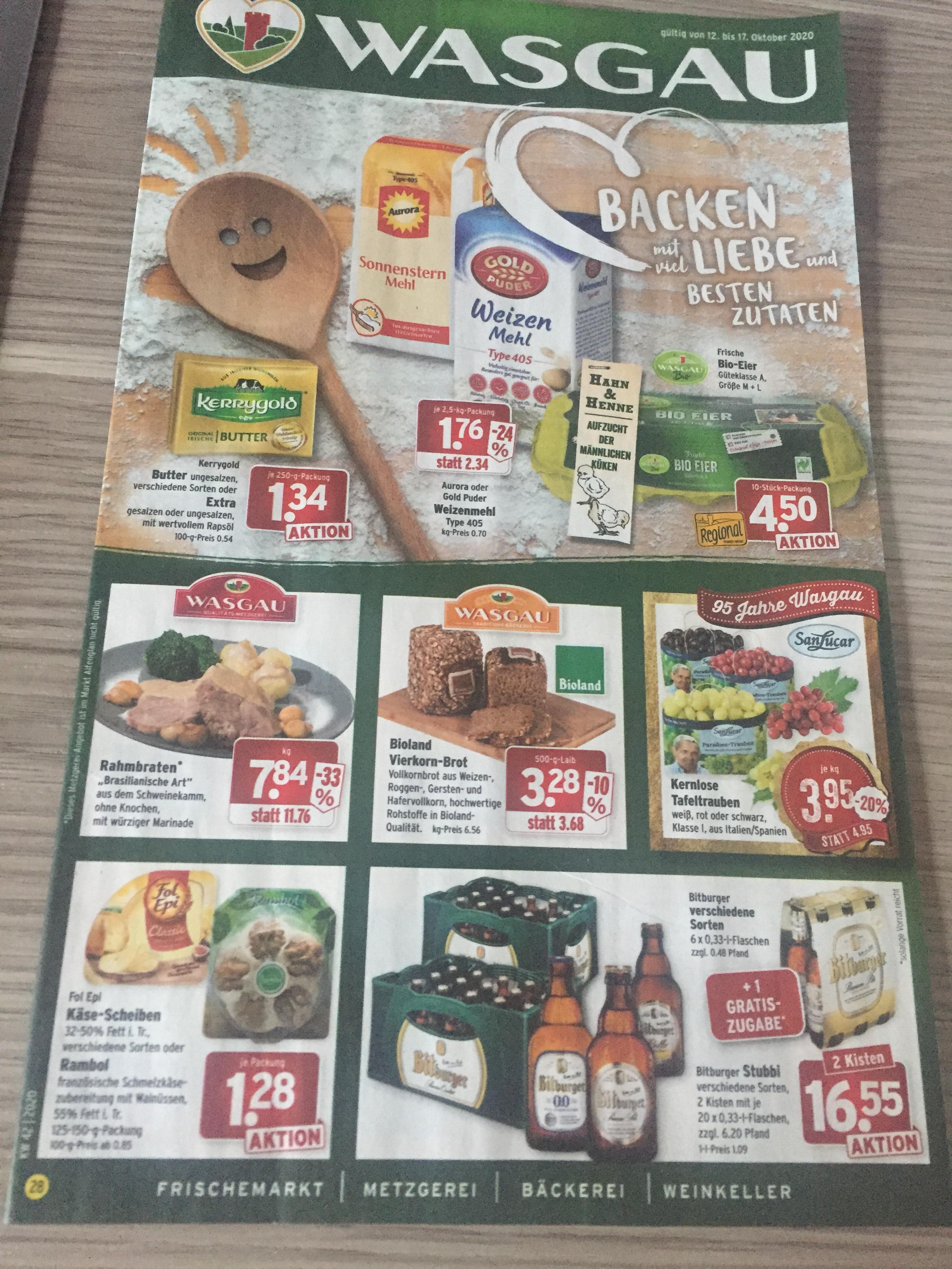 Wasgau 2 Kisten Bitburger Stubbi + Gratis 6 Pack
