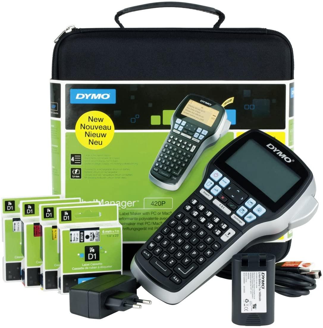 [STAPLES.de] DYMO LabelManager 420P-Etikettendrucker-Set Beschriftungsgerät im Koffer für 105,73 mit NL-Gutschein [Nischendeal]