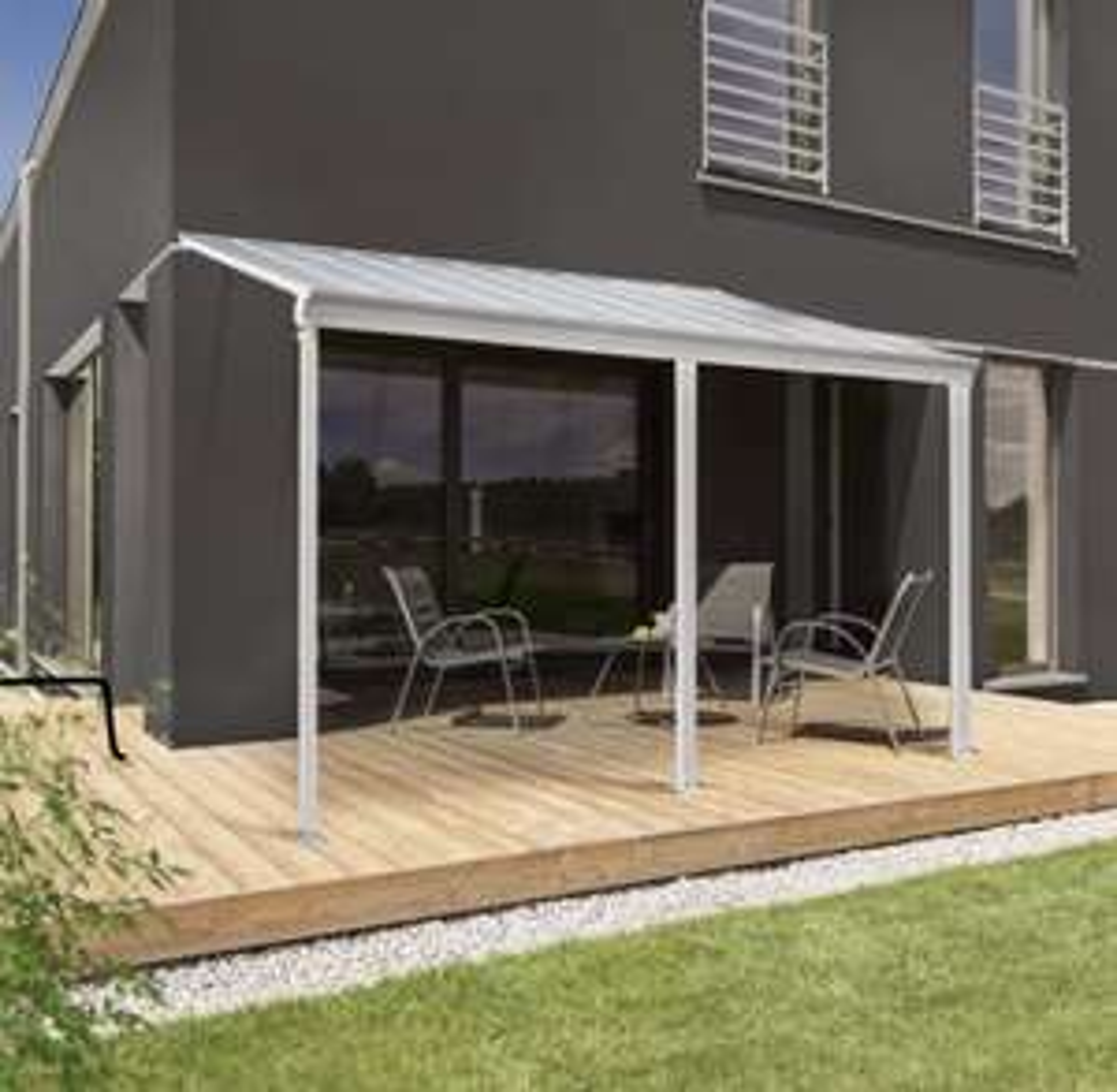ALDI liefert Terrassenüberdachung Home Deluxe 495 x 226/278 x 303 cm