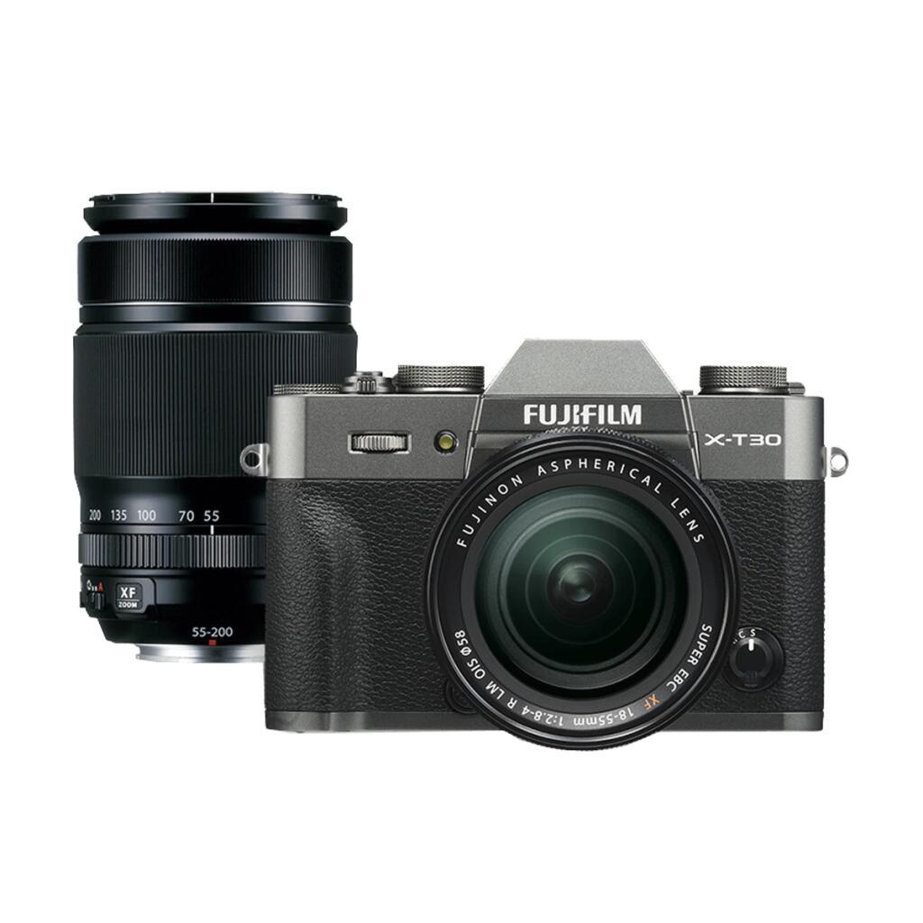 [El Corte Ingles Spanien] Fuji Fujifilm X-T30 Systemkamera Digitalkamera anthrazit mit 2 Objektiven XF 18-55 mm + XF 55-200mm für 1499€