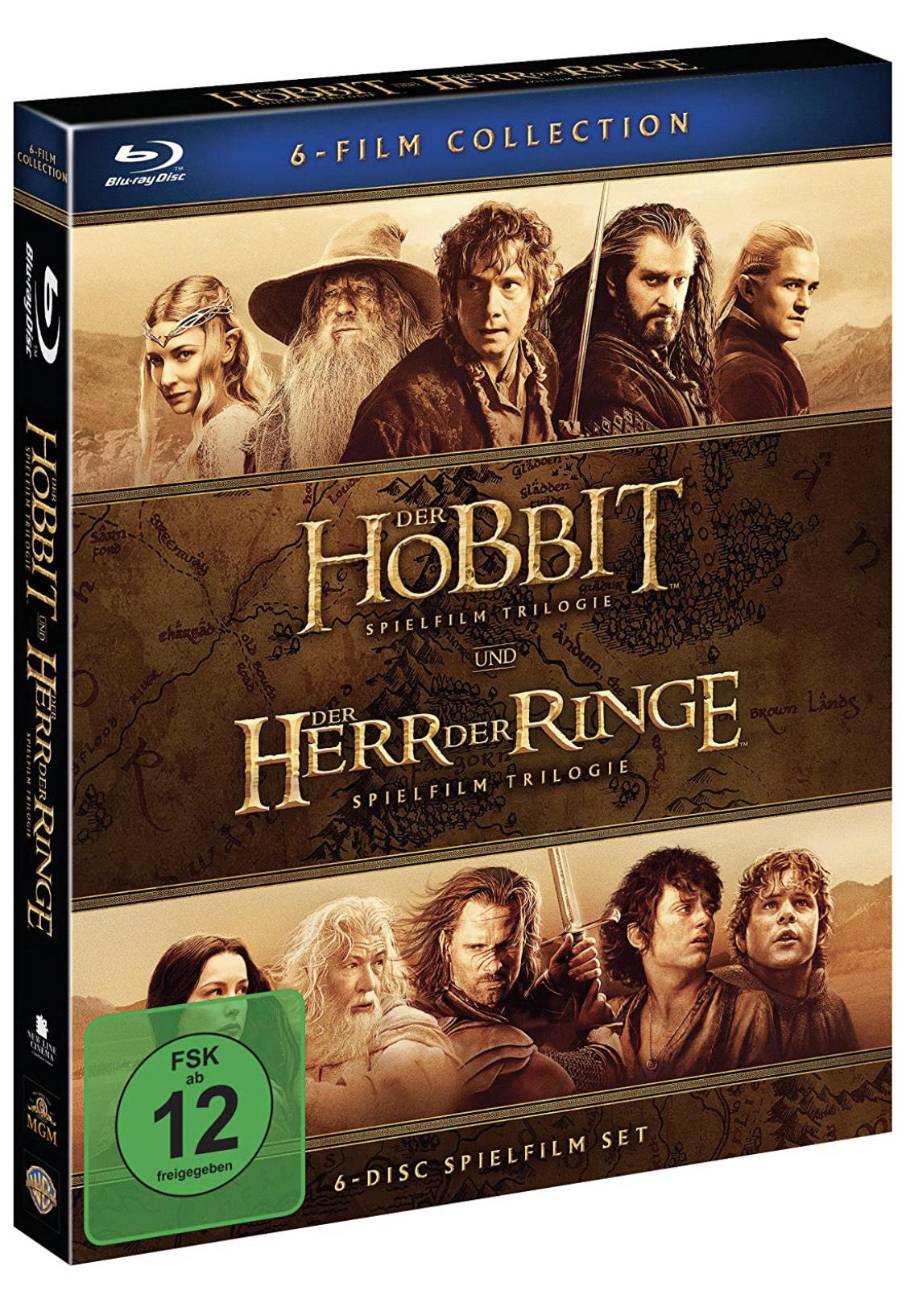[Prime Day] Der Hobbit und Der Herr Der Ringe: Mittelerde Collection [Blu-ray]