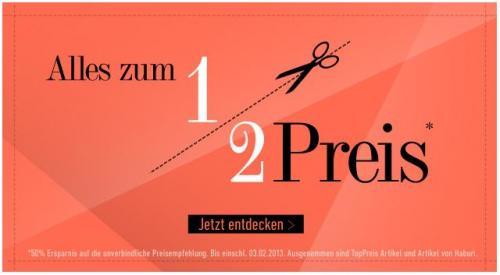 DRESS FOR LESS 50% UVP FÜR ALLES VOM 01.02 bis einschließlich 03.02.