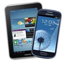 2 Geräte = 1 Vertrag! Samsung Galaxy i8190 S3 mini + Samsung Galaxy Tab 2 Wifi 7.0  für 1€ zum Telekom Vertrag!