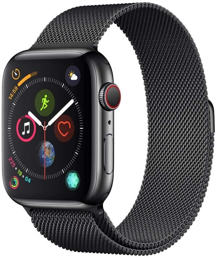 [Amazon.co.uk] Apple Watch Series 4 GPS + Cellular 44mm Edelstahl Milanaise Space Schwarz