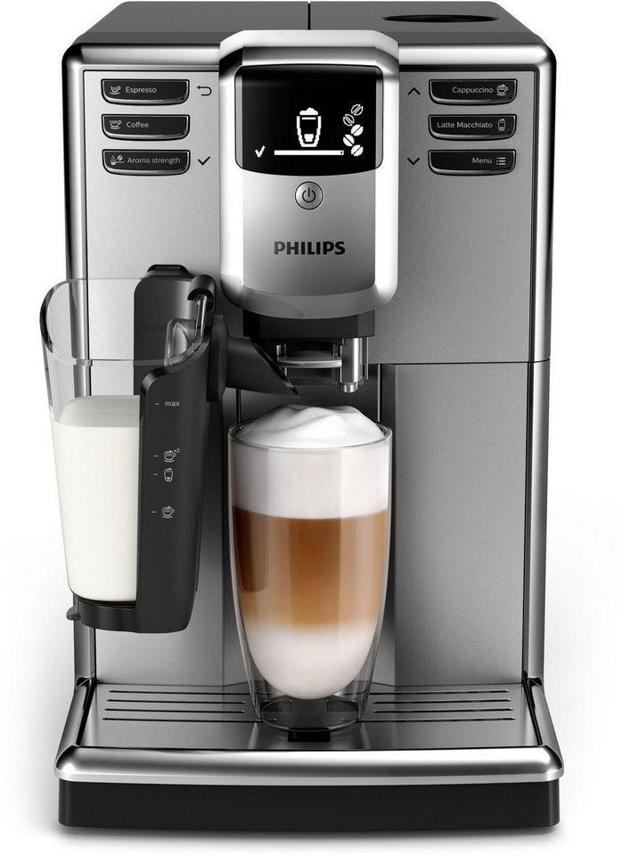 Philips EP5333/10 LatteGo Kaffeevollautomat (1850W, 1.8l Wasser, 250g Bohnen, 15bar, 5-stufiges Keramikmahlwerk, abnehmbarer Milchbehälter)