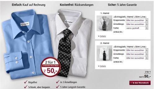 2 x Walbusch  bügelfreie  Hemden